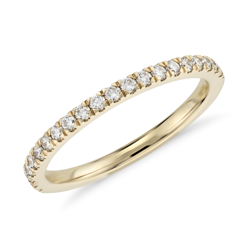 Petite Pavé Diamond Ring in 18k Yellow Gold (1/3 ct. tw.)