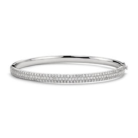 Lucille Diamond Bangle Bracelet in 18k White Gold (2.4 ct. tw.)