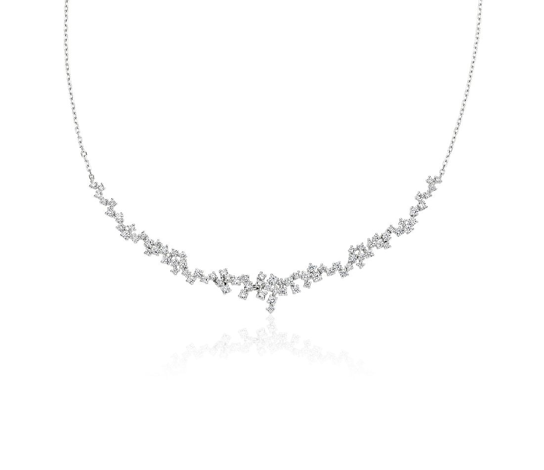 "Diamond Scatter ""V"" Necklace in 14K White Gold (1 1/2 ct. tw.)"