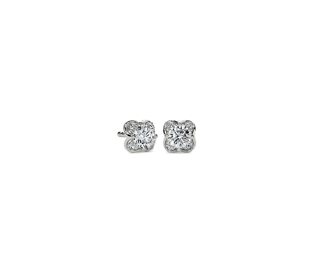 Diamond Side Profile Studs in 14k White Gold (0.50 ct. tw.)