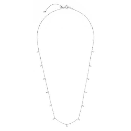c6e28fa0ca976 Diamond Single Strand Station Necklace in 18k White Gold | Blue Nile