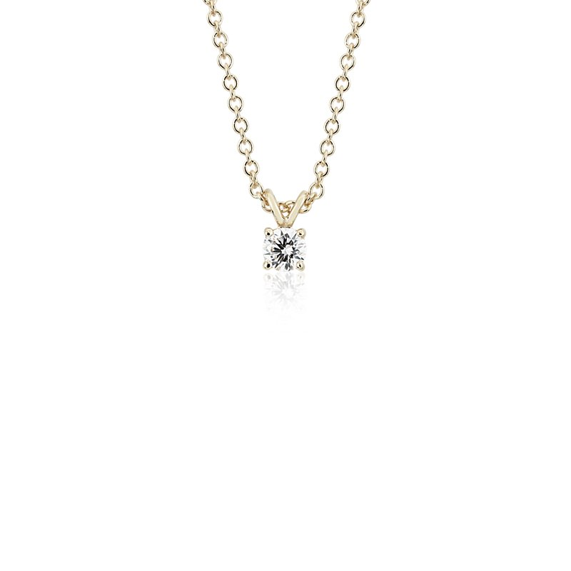 Diamond Solitaire Pendant in 14k Yellow Gold (1/4 ct. tw.)