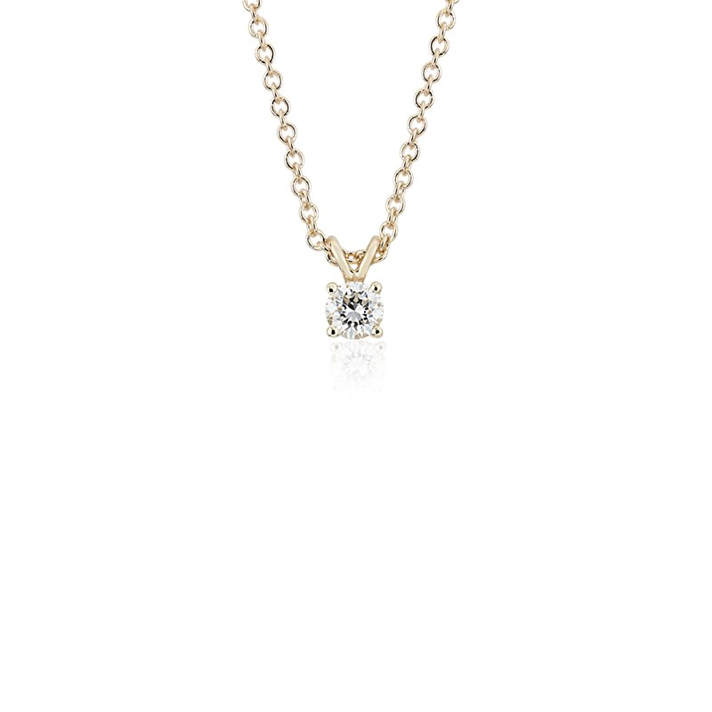 Diamond Solitaire Pendant in 14k Yellow Gold (1/3 ct. tw.)