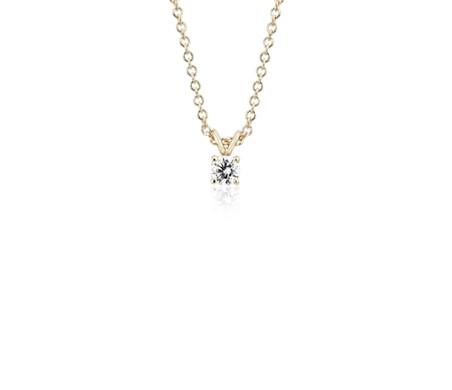 Colgante de diamantes con cuatro garras en oro amarillo de 14k (1/4 qt. total)