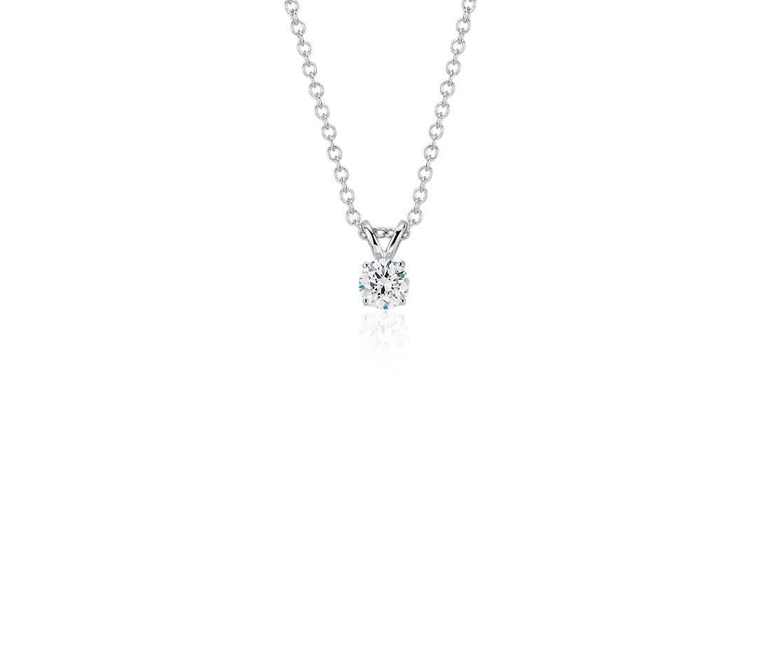 14k White Gold Four-Claw Double-Bail Diamond Pendant (0.23 ct. tw.)