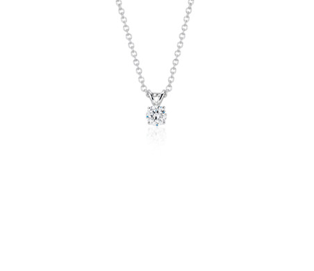 Blue Nile Diamond Solitaire Pendant in 14k White Gold (1/4 ct. tw.) zuKcG6