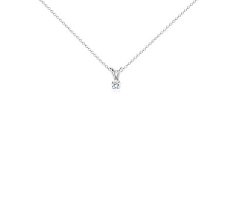 Colgante de diamantes con doble pasador y cuatro puntas en oro blanco de 14 k (1/4 qt. total)