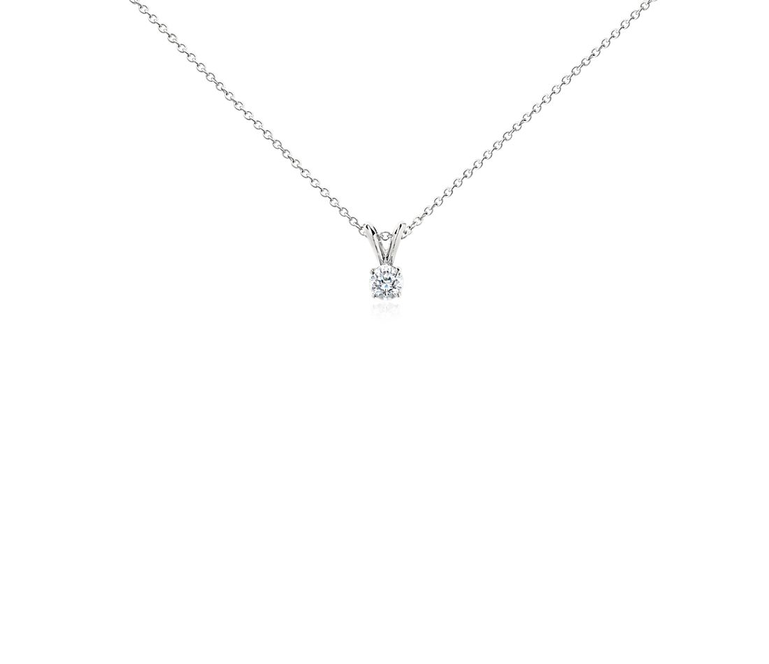 Platinum Four-Claw Double-Bail Diamond Pendant (0.33 ct. tw.)