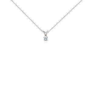 Pendentif solitaire diamant en platine (1/3carat, poids total)