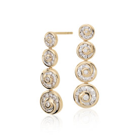Blue Nile Studio Diamond Spiral Drop Earrings in 18k Yellow Gold (5/8 ct. tw.)