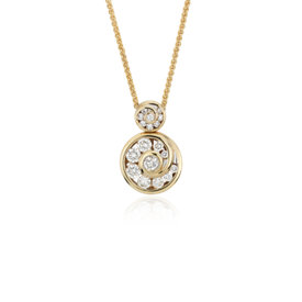Blue Nile Studio Spiral Diamond Pendant in 18k Yellow Gold (1/2 ct. tw.)