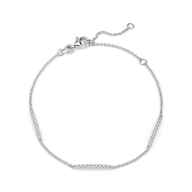 Diamond Stationed Bar Bracelet in 14k White Gold (1/4 ct. tw.)