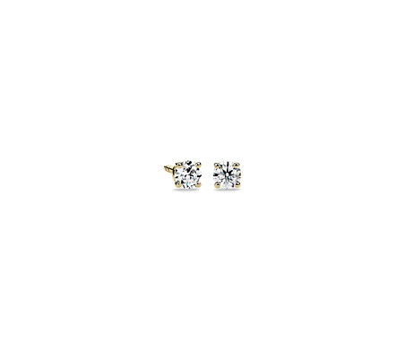 14k Yellow Gold Four-Claw Diamond Stud Earrings (1/4 ct. tw.)