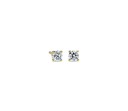 14k Yellow Gold Four-Claw Diamond Stud Earrings (1/2 ct. tw.)