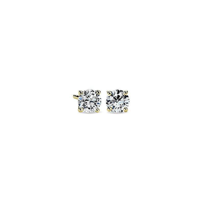 Diamond Stud Earrings in 14k Yellow Gold (1 ct. tw.)