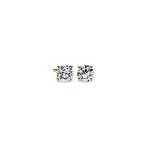 NEW 14k Yellow Gold Four-Claw Diamond Stud Earrings (1 ct. tw.)