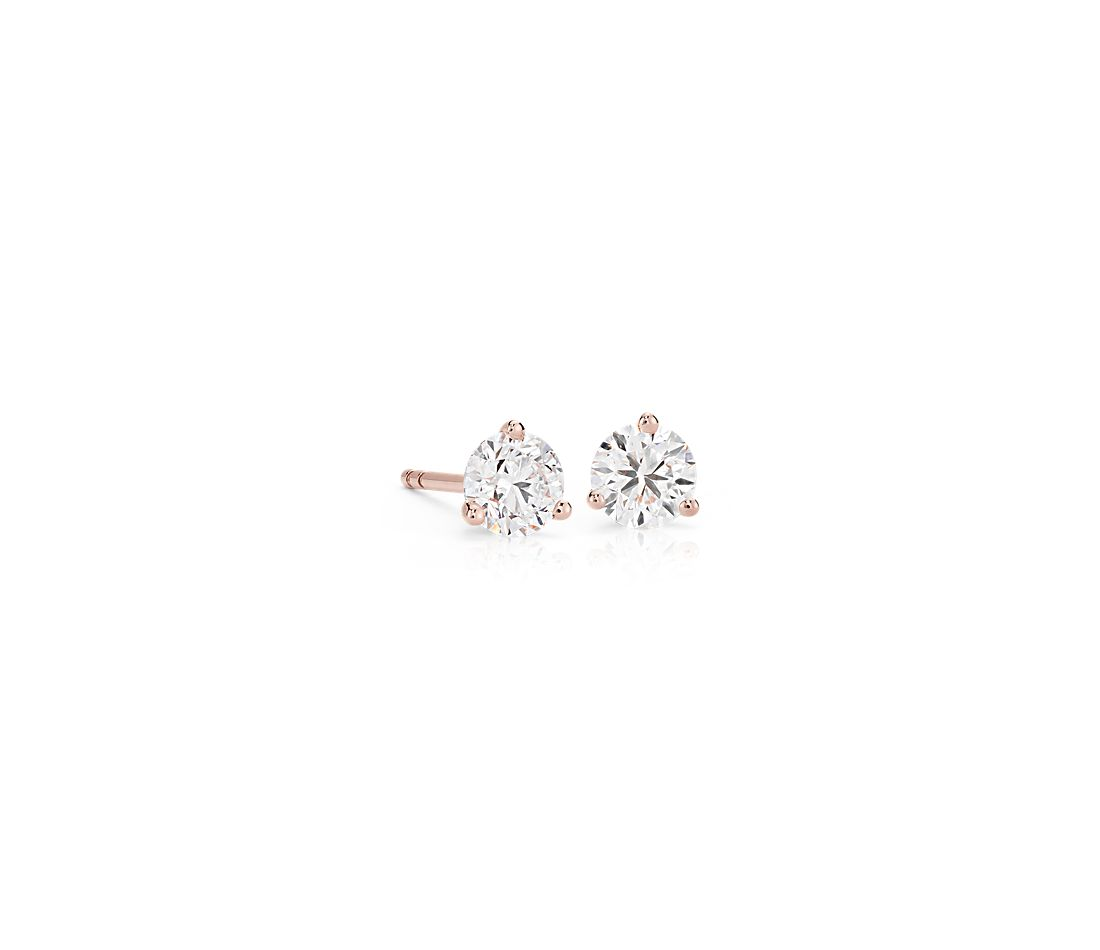 Diamond Stud Earrings in 14k Rose Gold (3/4 ct. tw.)