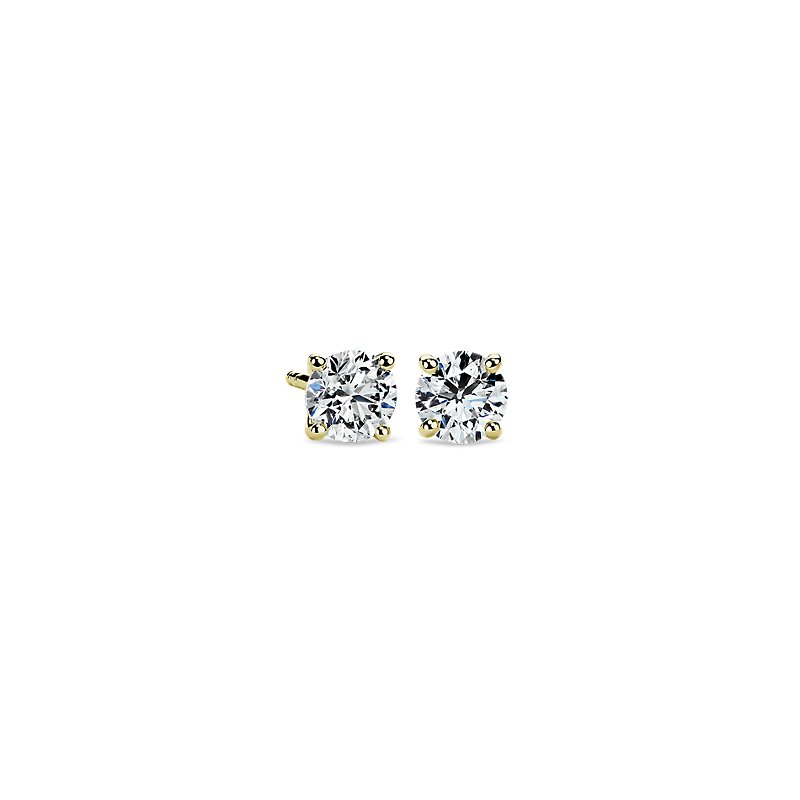 Diamond Stud Earrings in 18k Yellow Gold (1 ct. tw.)