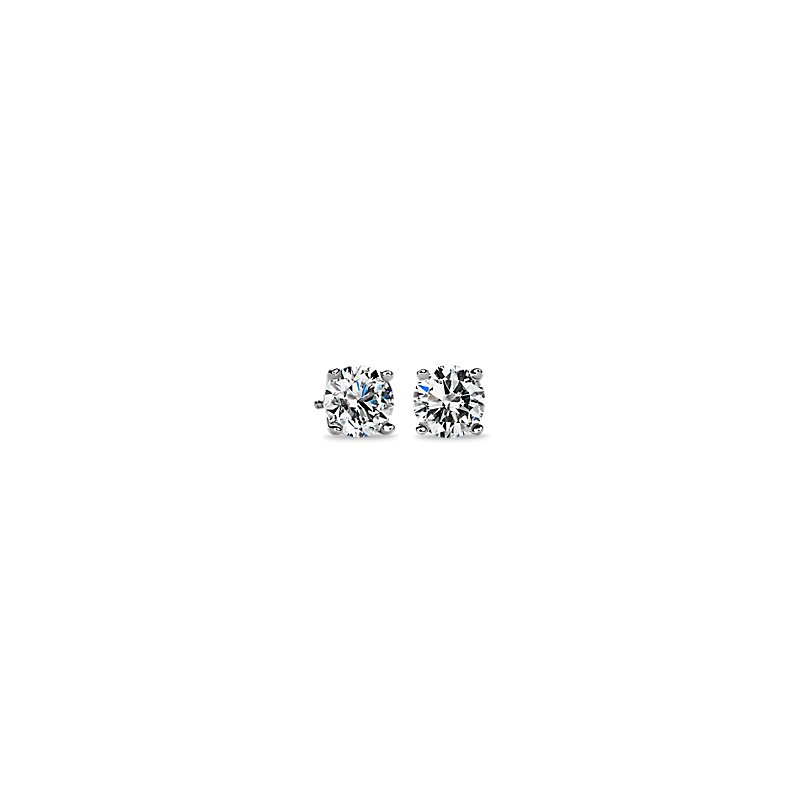 Diamond Stud Earrings in 18k White Gold (3 ct. tw.)