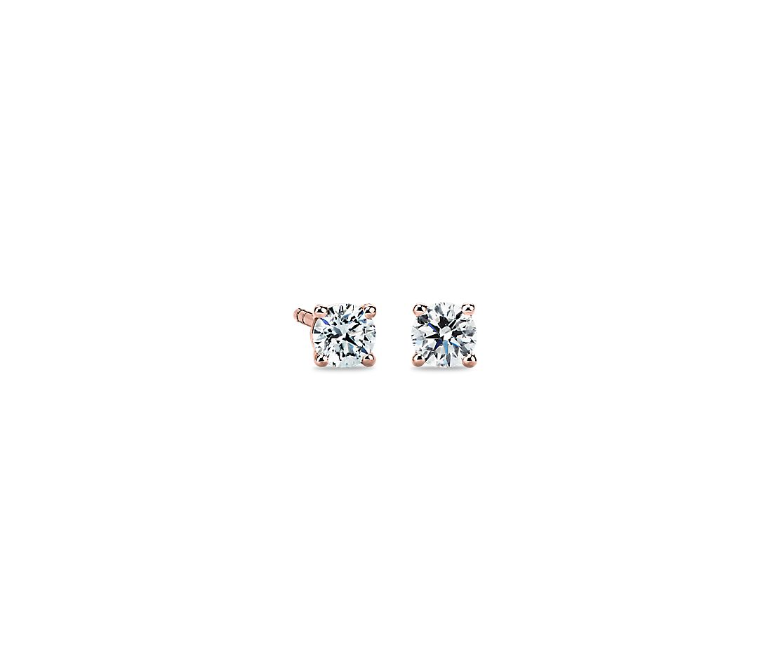 Diamond Stud Earrings in 14k Rose Gold (1/2 ct. tw.)