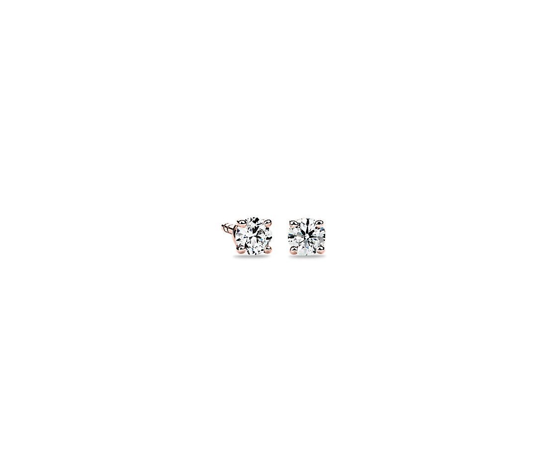 Diamond Stud Earrings in 14k Rose Gold (1/4 ct. tw.)