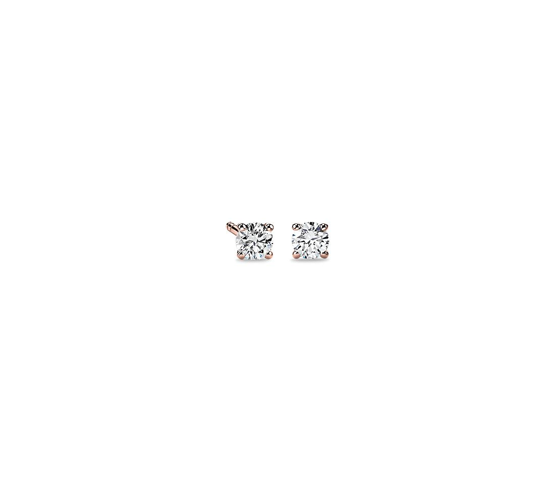 Diamond Stud Earrings in 14k Rose Gold (1/3 ct. tw.)