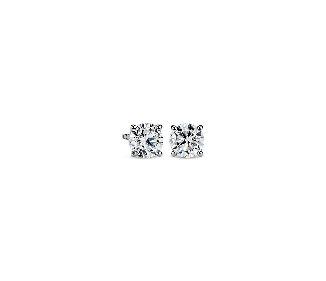 Diamond Stud Earrings in 14k White Gold (1 1/4 ct. tw.)