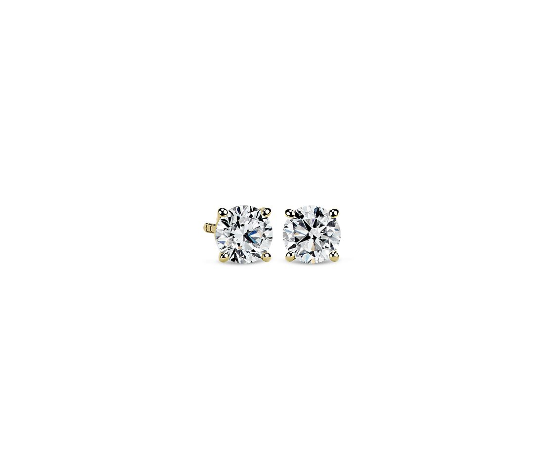 Diamond Stud Earrings in 14k Yellow Gold (1 1/4 ct. tw.)