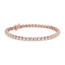 Diamond Tennis Bracelet In 14k Rose Gold 7 Ct Tw
