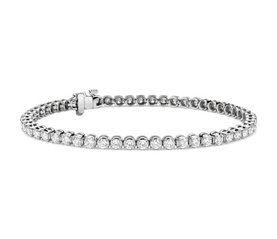 Diamond & 14k White Gold Tennis Bracelet
