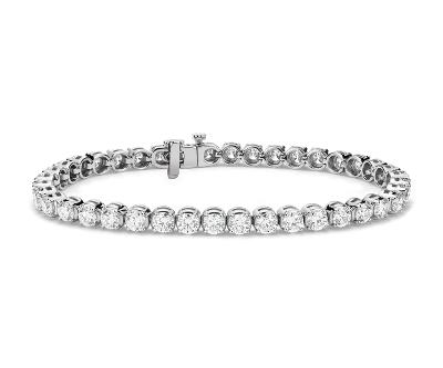 Diamond Tennis Bracelet In 14k White Gold 8 Ct Tw Blue Nile