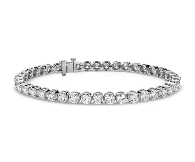 Bracelet tennis diamants en or blanc 14 carats (10 carats, poids total)