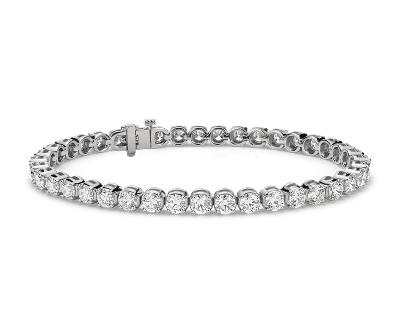 Diamond Tennis Bracelet In 14k White Gold 10 Ct Tw Blue Nile