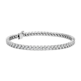 NEW Diamond Two Row Tennis Bracelet in 14k White Gold (3.5 ct. tw.)
