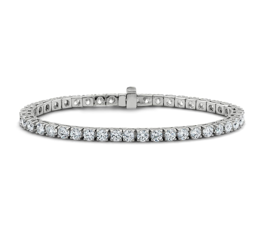 Diamond Tennis Bracelet In 14k White Gold 7 Ct Tw