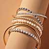 première vue alternative des Bracelet tennis diamants en or jaune 14carats (4carats, poids total)