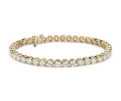 Diamond Tennis Bracelet In 14k Yellow Gold 10 Ct Tw Blue Nile
