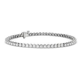 Bracelet tennis diamants en or blanc 14carats (2,95carats, poids total)