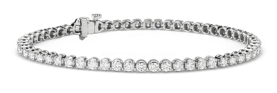 Diamond Tennis Bracelet In 14k White Gold 2 95 Ct Tw Blue Nile