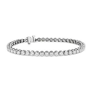 NEW Diamond Tennis Bracelet in 14k White Gold