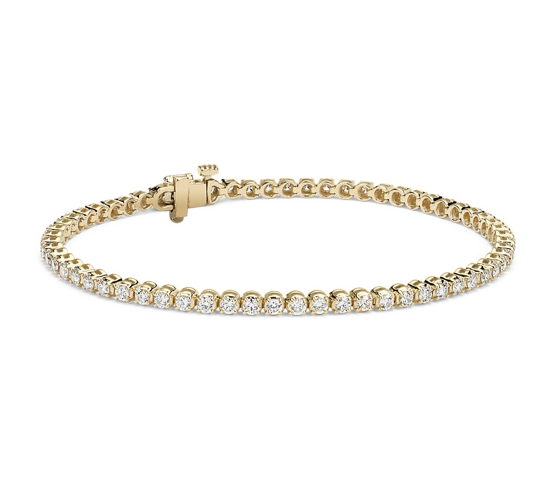 Diamond Tennis Bracelet 18k Yellow Gold 2 Ct Tw