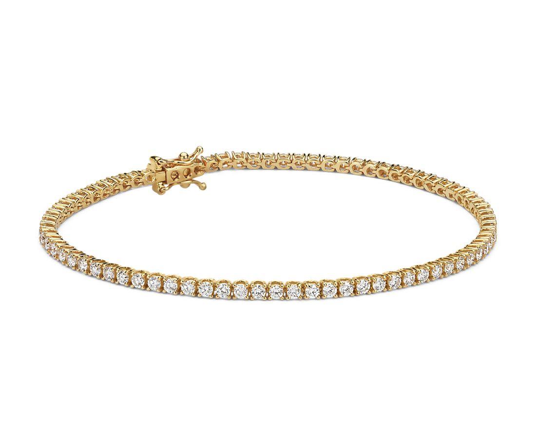 Diamond Tennis Bracelet In 18k Yellow Gold F Vs 2 Ct