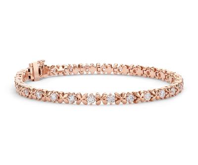 Blue Nile Studio Rose Petal Diamond Bracelet in 18k Rose Gold 25