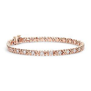 Blue Nile Studio Rose Petal Diamond Bracelet in 18k Rose Gold (2.5 ct. tw.)