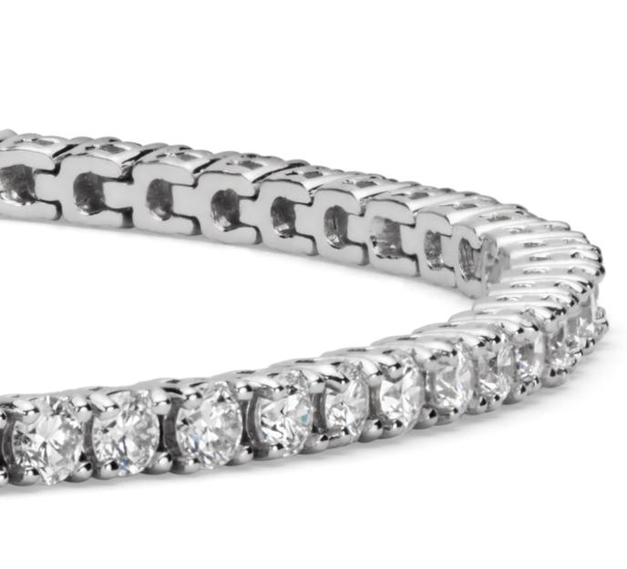 Bracelet tennis diamants en or blanc 18 carats (3 carats, poids total)