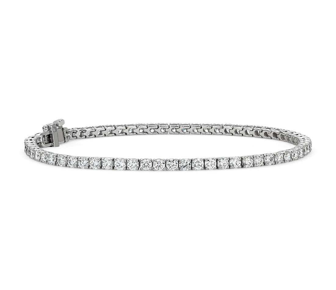 Diamond Tennis Bracelet In 18k White Gold F Vs 4 Ct Tw