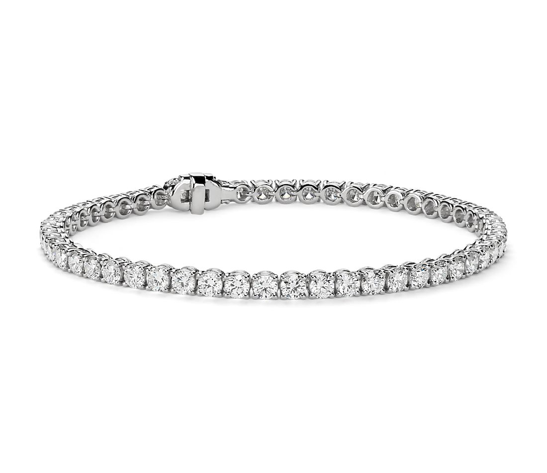 Diamond Tennis Bracelet In 18k White Gold F Vs2 6 Ct