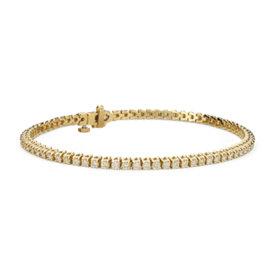 Diamond Tennis Bracelet in 18k Yellow Gold - F / VS2 (2 ct. tw.)
