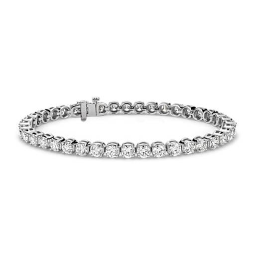 Diamond Tennis Bracelet In 18k White Gold 10 Ct Tw