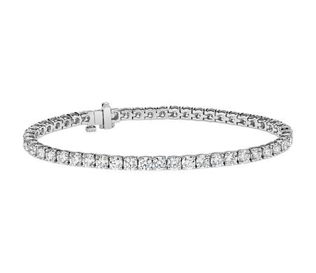 Diamond Tennis Bracelet in 18k White Gold -  F / VS (8 ct. tw.)